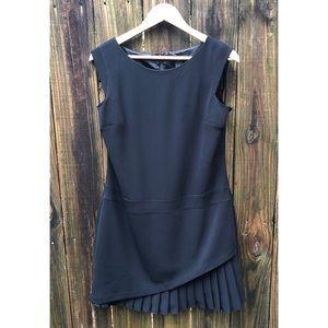 WHBM semi fitted black shift dress, sz 8